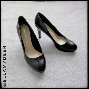 Franco Sarto ▫ Black Classic Round Toe High Heel